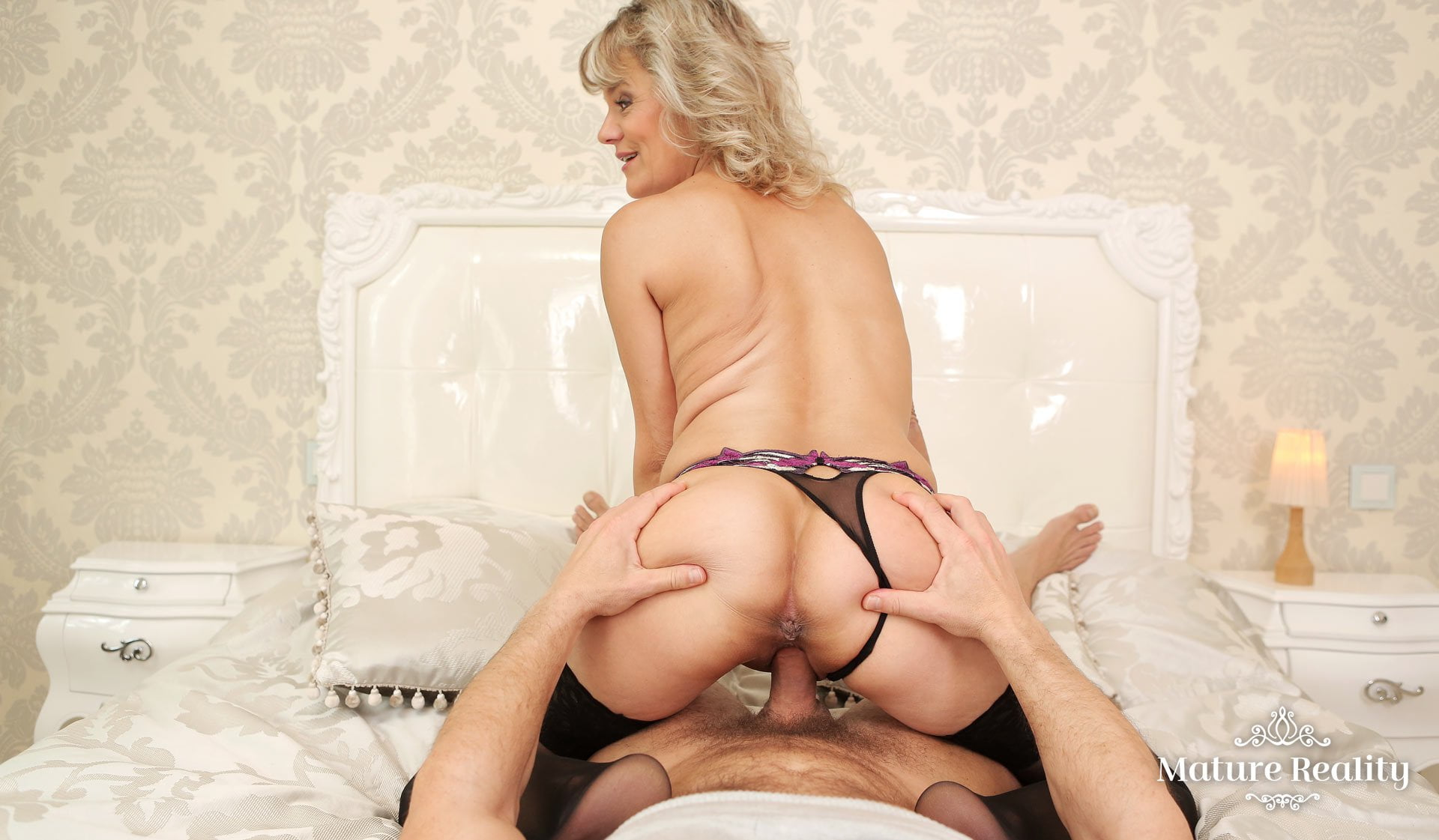 Blond Beauty Reverse Cowgirl